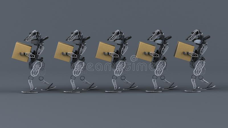 Generative Automation - 3D Illustration royalty free stock images