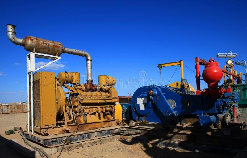 Generator en pomp stock foto