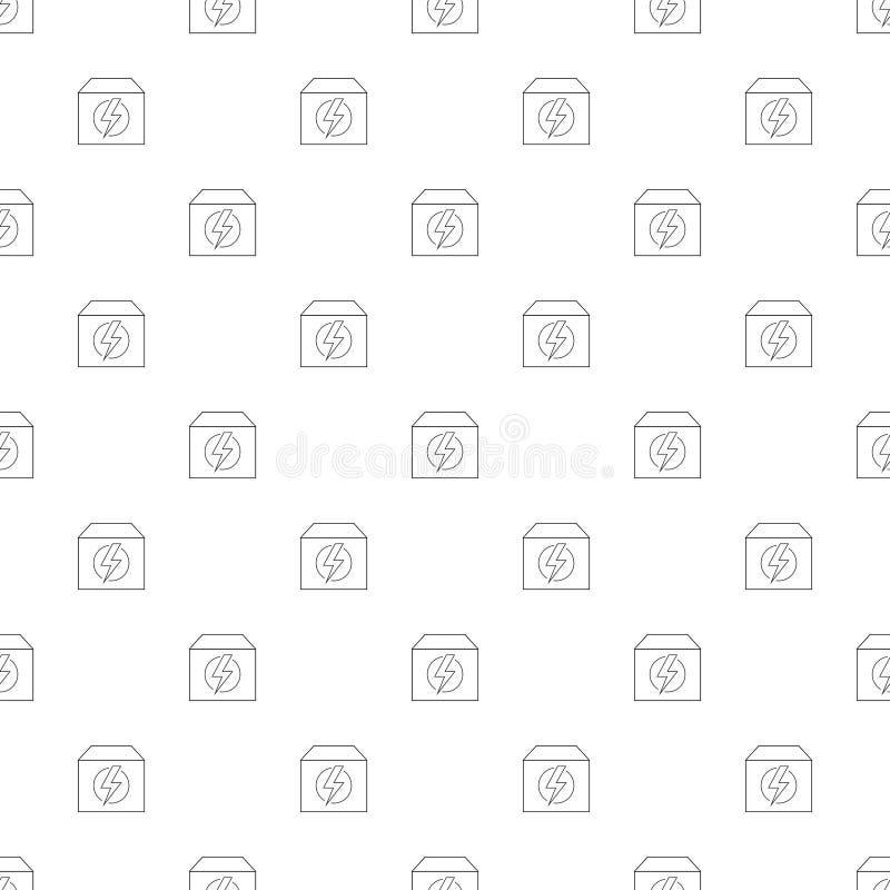 Generatorachtergrond van lijnpictogram lineair vectorpatroon royalty-vrije illustratie