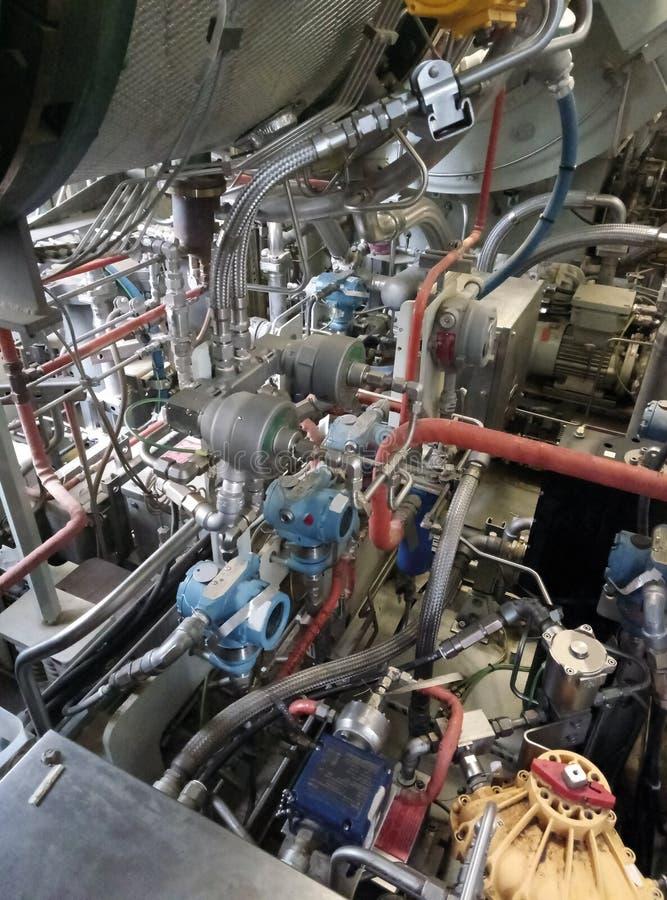 Generatore della turbina a gas fotografie stock libere da diritti