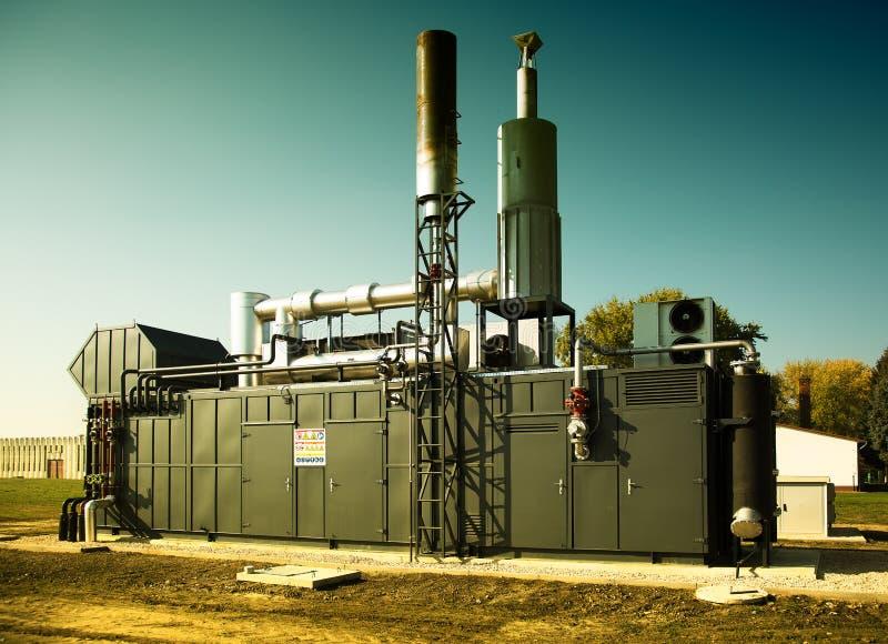 Generatore di energia del motore a gas immagine stock libera da diritti