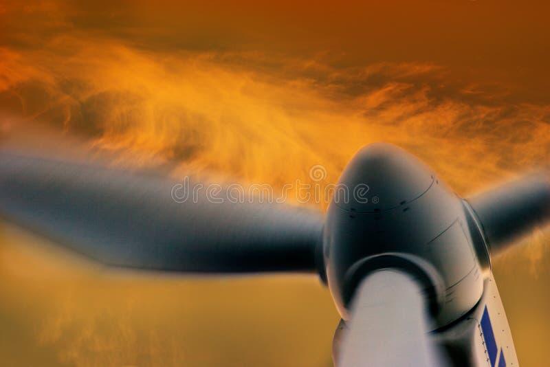 Generatore di energia di vento fotografia stock libera da diritti