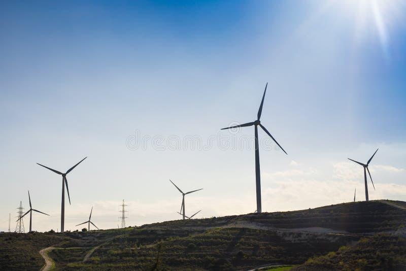 Generatore eolico per energia alternativa Potenza concept fotografie stock libere da diritti