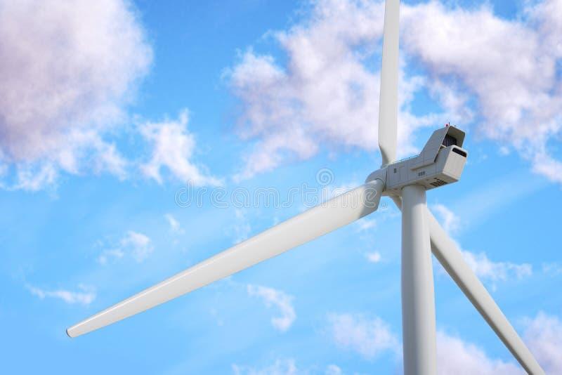 Generatore eolico sul fondo del cielo royalty illustrazione gratis
