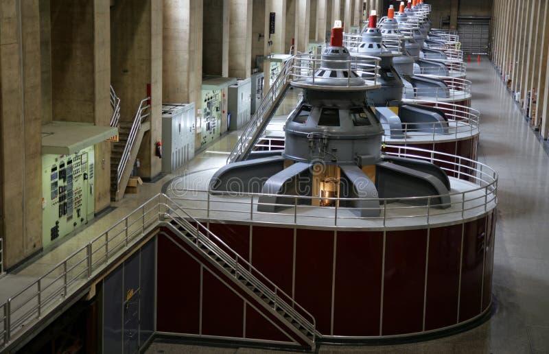 Generatori della diga di Hoover immagine stock