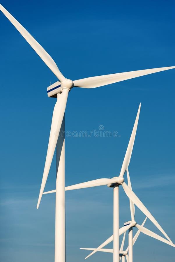 Generatori eolici che affrontano il vento fotografia stock libera da diritti