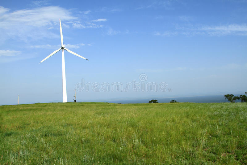 Generatori eolici in porcellana fotografia stock