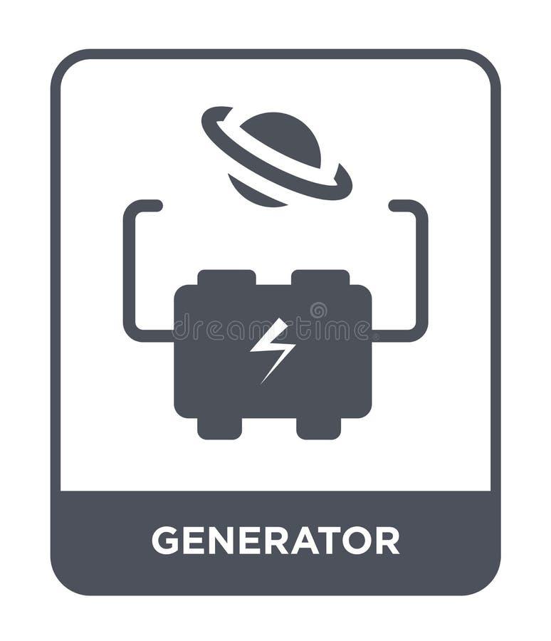 generatorpictogram in in ontwerpstijl generatorpictogram op witte achtergrond wordt geïsoleerd die eenvoudige en moderne vlakte v stock illustratie