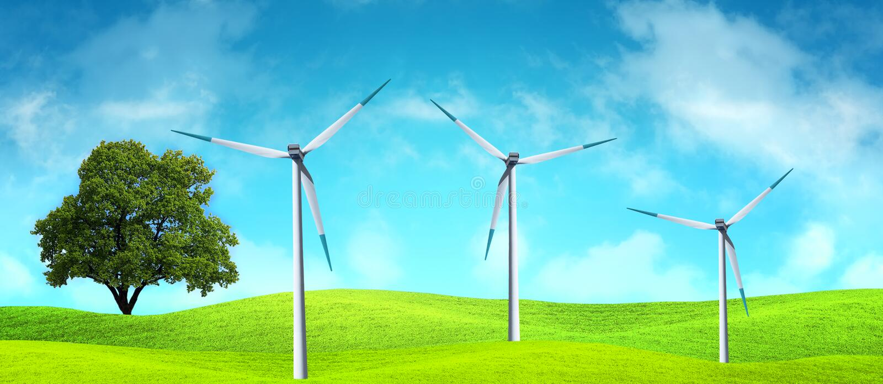 generatoru wiatr obraz royalty free