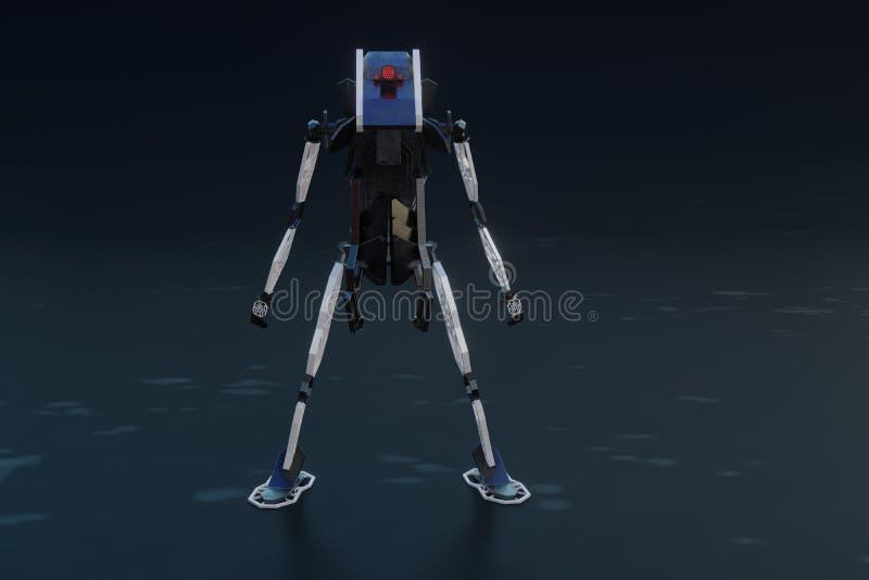 Generatywny robot - 3D ilustracja royalty ilustracja