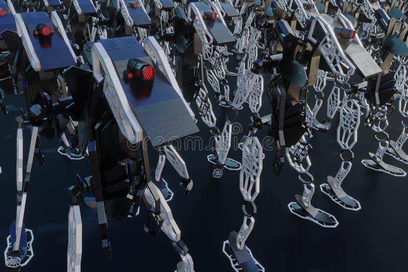 Generatywny robot - 3D ilustracja ilustracja wektor