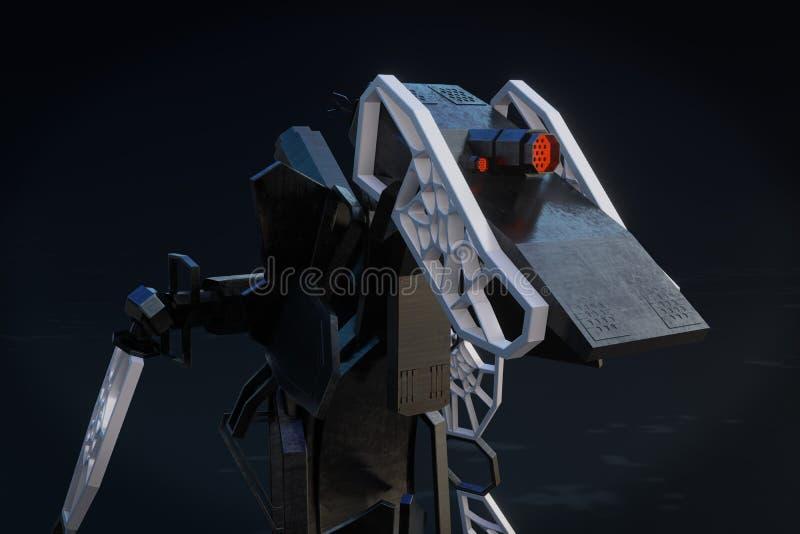 Generatywny robot - 3D ilustracja ilustracji