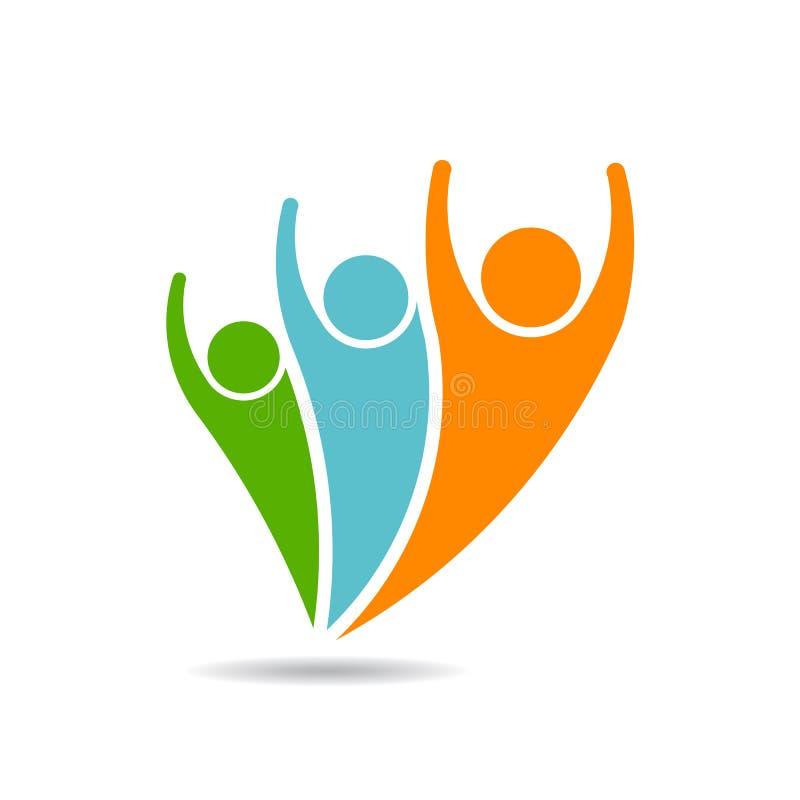 Generazione dell'affare di famiglia della gente, logo di vettore illustrazione vettoriale