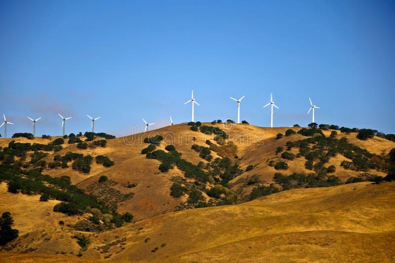 Generazione di energia eolica della California fotografia stock libera da diritti