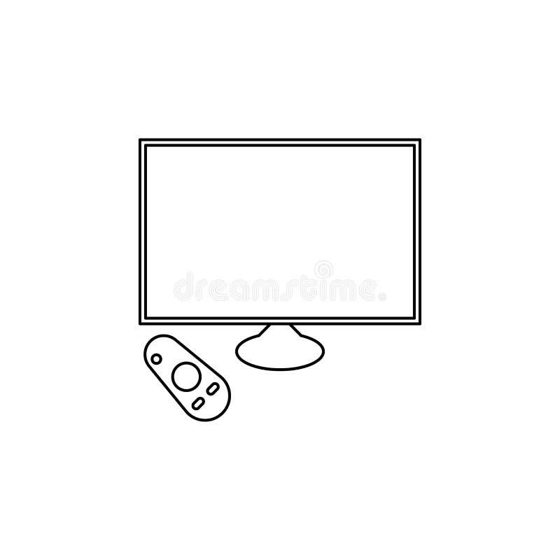 generazione di icona astuta delle TV Elemento dell'icona della generazione per i apps mobili di web e di concetto Linea sottile i royalty illustrazione gratis