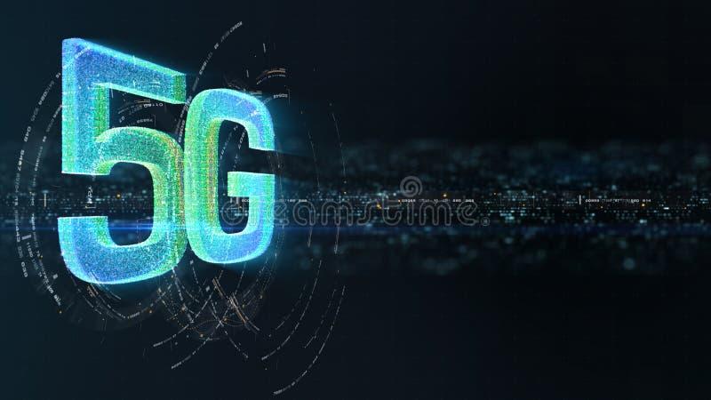 generazione innovatrice ad alta velocità senza fili digitale dell'icona 5G quinta royalty illustrazione gratis