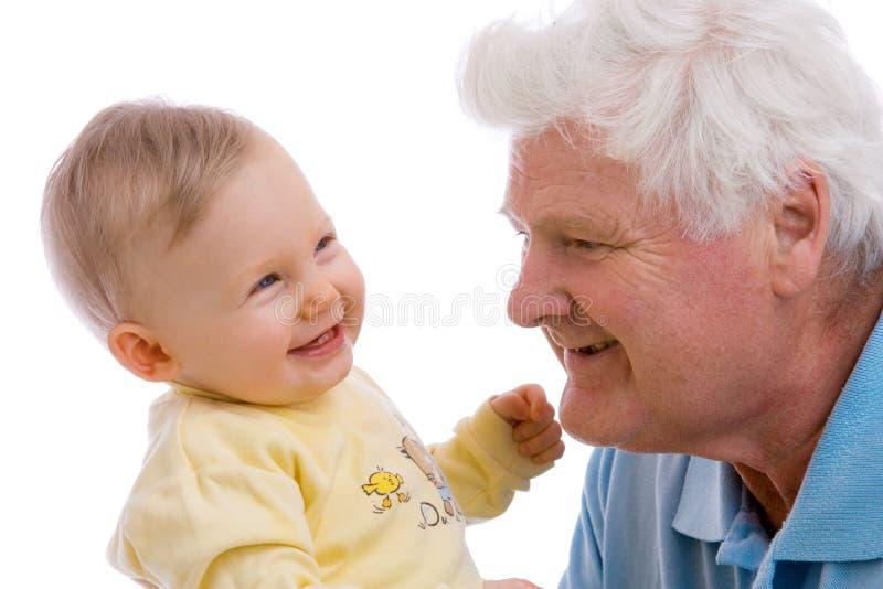 Generazioni sorridenti fotografia stock