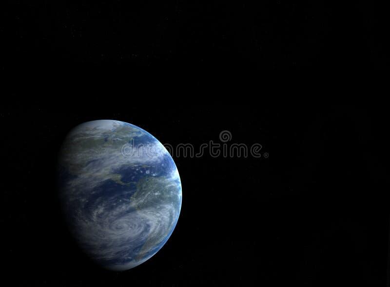 Genere della terra e delle stelle da spazio illustrazione vettoriale