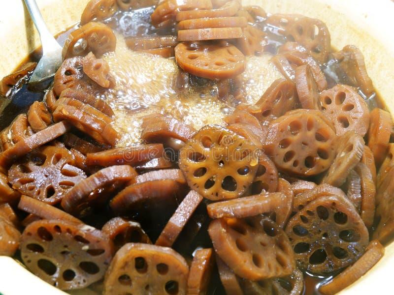 Genere di dessert cinese Fagioli di Brown La Cina come dessert Ci sono molti del fagiolo comune fotografie stock libere da diritti
