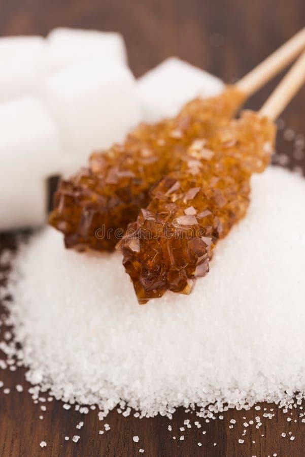 Genere di Difrent di zucchero fotografie stock