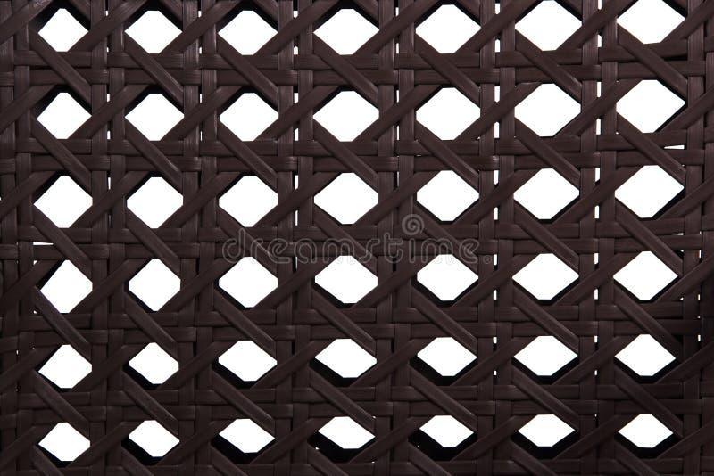Genere di mobilia del rattan di tessitura fotografie stock libere da diritti