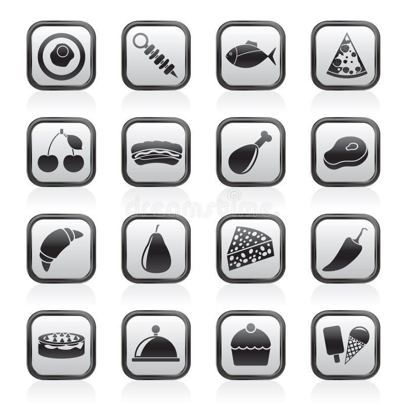 Genere differente di icone dell'alimento illustrazione vettoriale