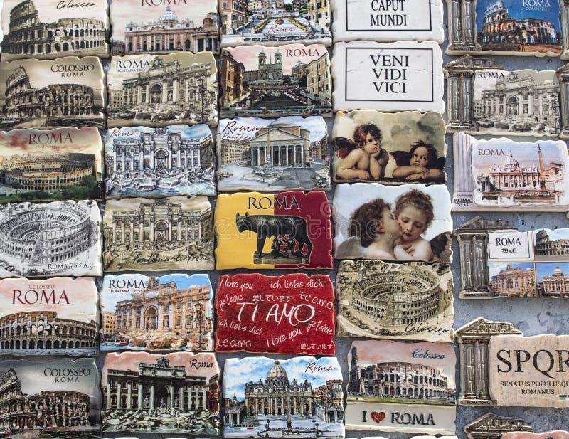 Genere differente di magneti di Roma fotografia stock libera da diritti
