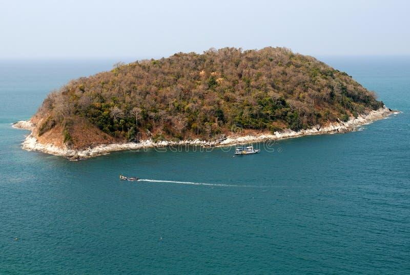 Genere sull'oceano e sull'isola fotografia stock
