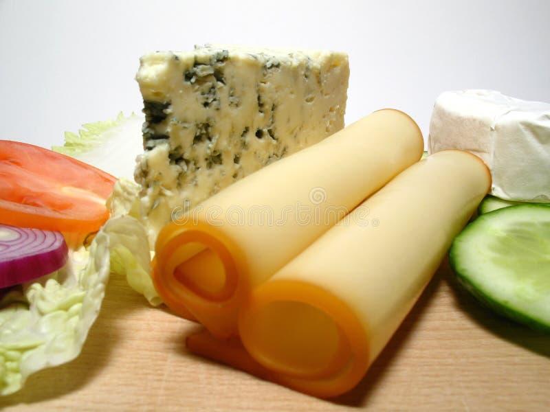 Generi dei formaggi fotografia stock libera da diritti
