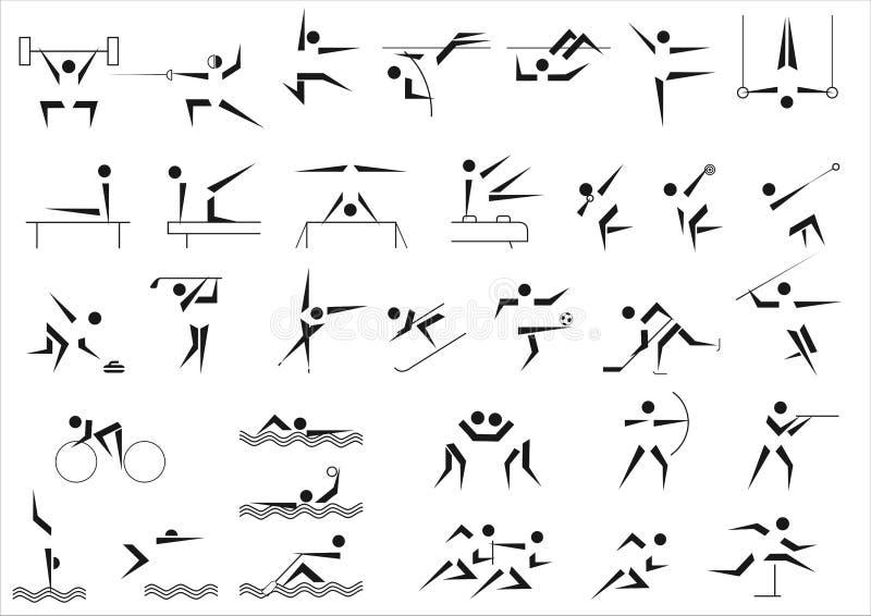 Generi differenti di sport illustrazione vettoriale