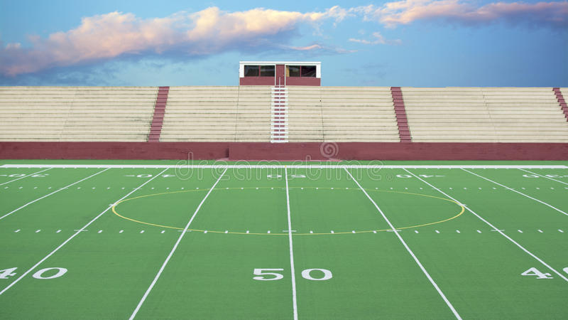 Generic American football field background royalty free stock photos