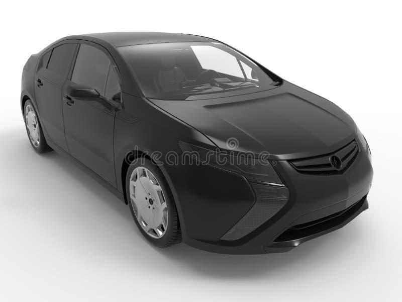 Generic black hybrid car vector illustration