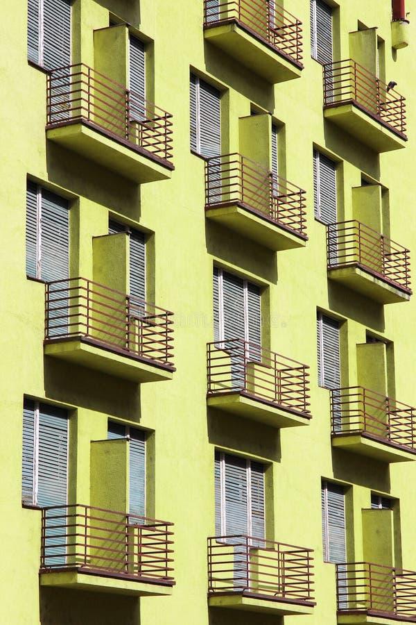 Generic block of flats. Average city residential property in Timisoara, Romania stock photos