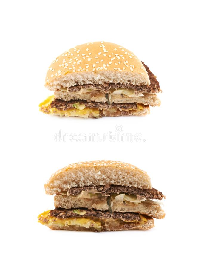 Generic burger composition isolated royalty free stock image