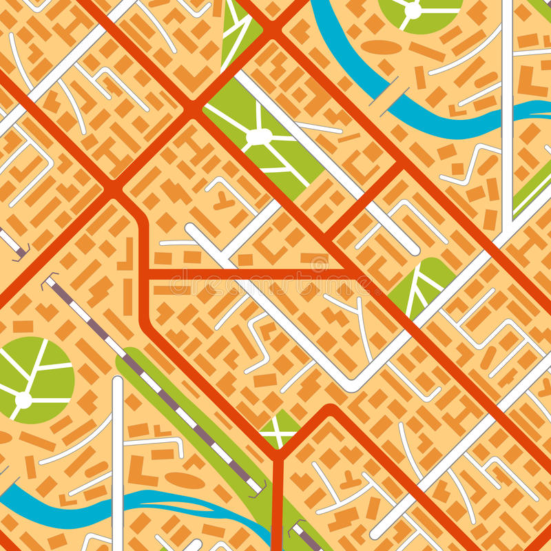 Generic city map background. City map background. EPS10 vector illustration in flat style royalty free illustration