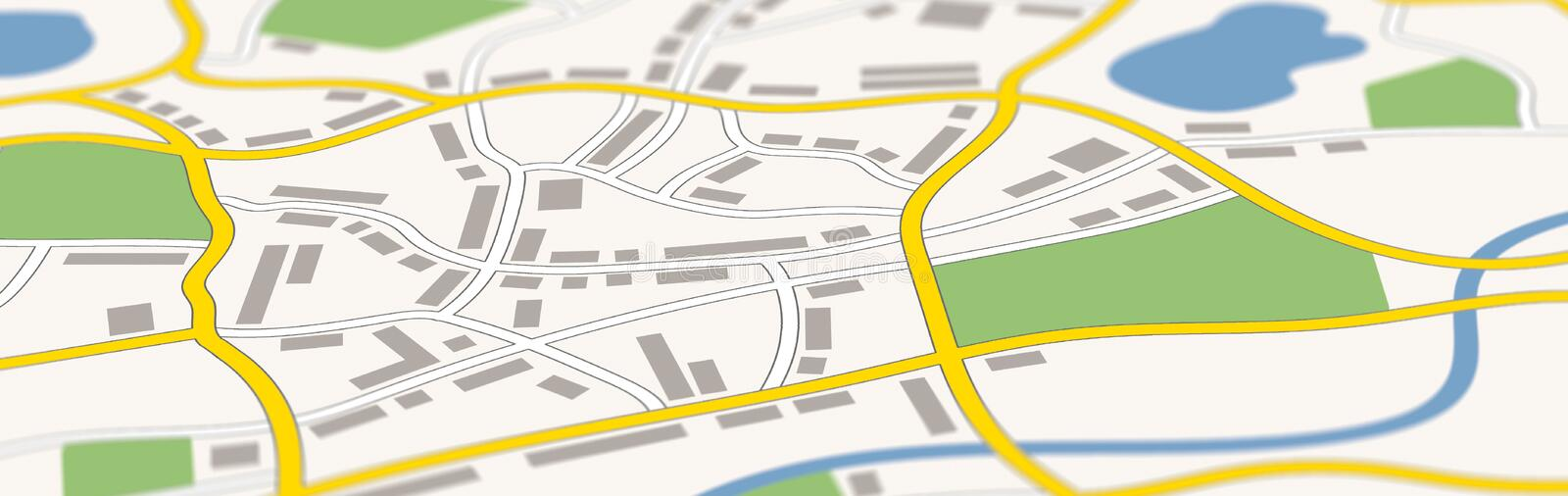 A generic city map banner royalty free illustration