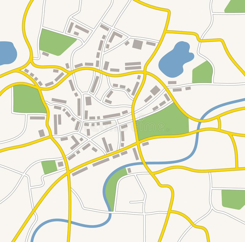 A generic city map illustration vector illustration