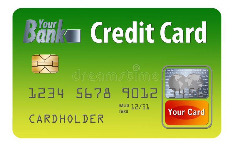 Generic credit or debit card isolated on white vector illustration