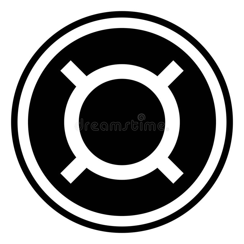 Generic currency symbol icon royalty free illustration