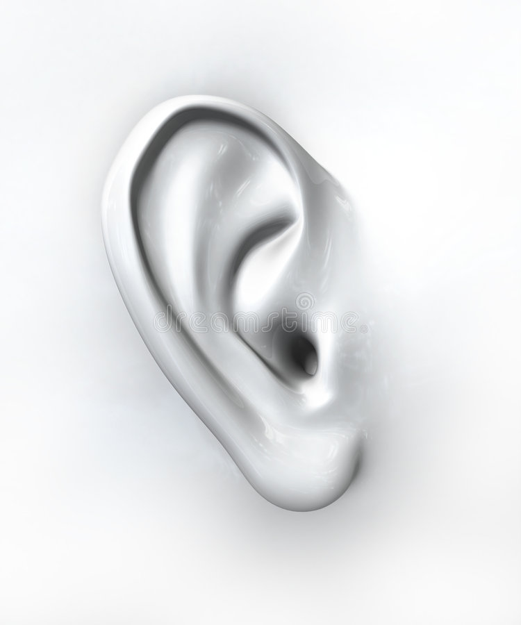 Generic ear royalty free illustration