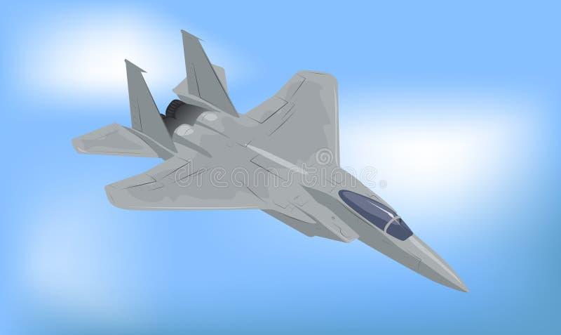 Generic Fighter Jet. Vector Illustration stock illustration