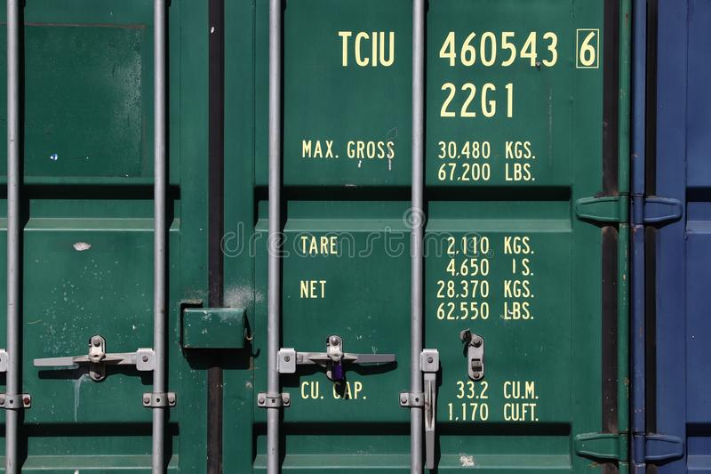 Download Shipping container door stock photo. Image of door transportation - 114133496 & Shipping container door stock photo. Image of door transportation ...