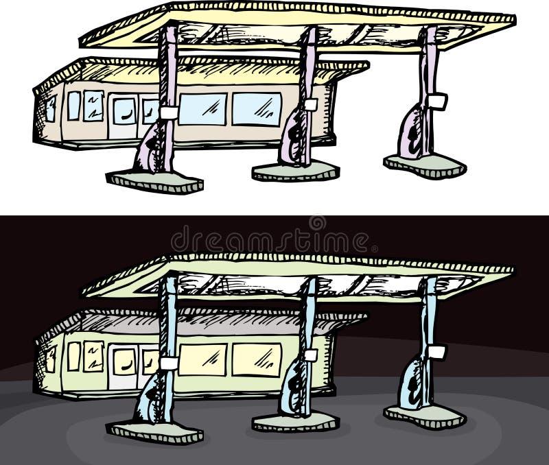 Generic Gas Station vector illustration