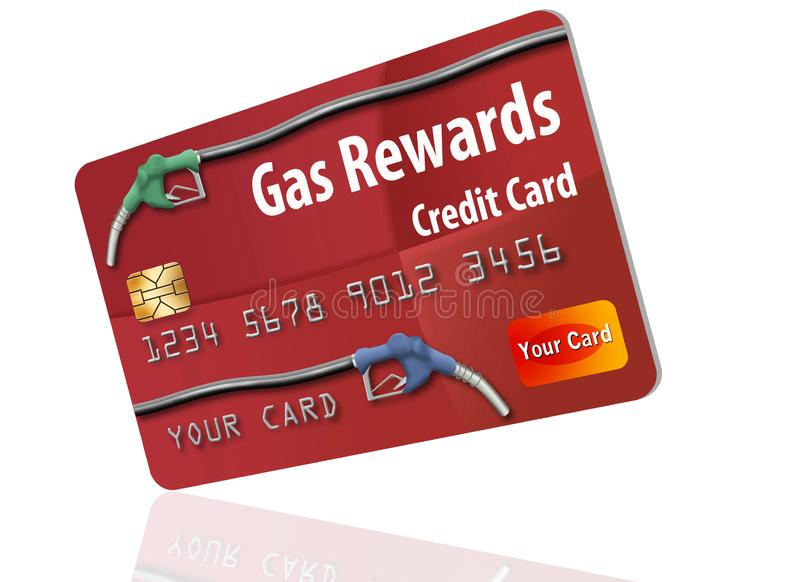 This is a generic gasoline rewards credit card. stock illustration