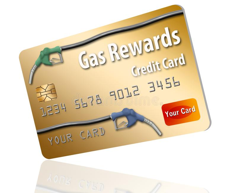 This is a generic gasoline rewards credit card. vector illustration