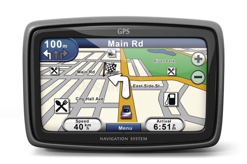 Generic GPS. Navigation system device (3d illustration royalty free illustration