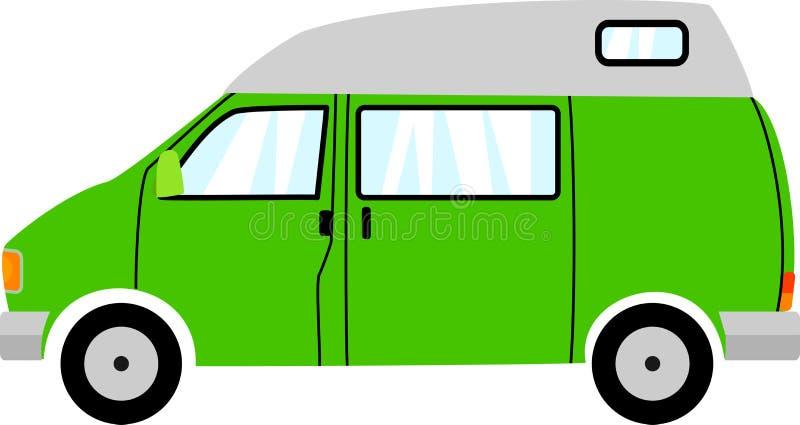 Generic Green High Top Camper Van royalty free illustration