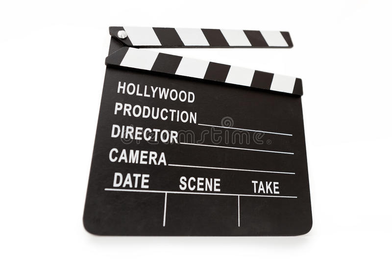 Download Generic Hollywood Production Clapper Board. Stock Image - Image: 20112061