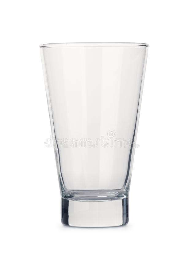 Generic isolated empty clear glass tumbler stock photos