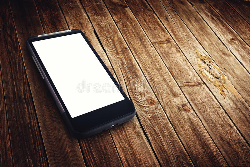 Generic mobile phone with blank screen royalty free stock images